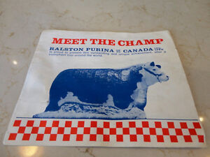"Vintage 1970's Ralston Purina ""The Champ"" 4 page Brochure"