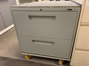 Lateral Filing Cabinet - Global 9300 2 Drawer in Grey