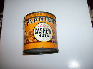 one of a kind Planters Salted Cashew Nut Peanut tin
