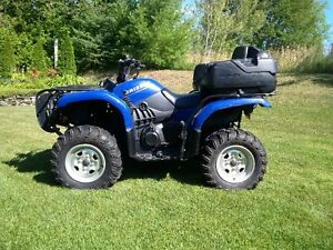 2005 Yamaha grizzly 660cc 4x4 with plow.  great shape