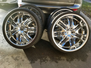 "Helo 833 22"" Wheels & Tires OBO"