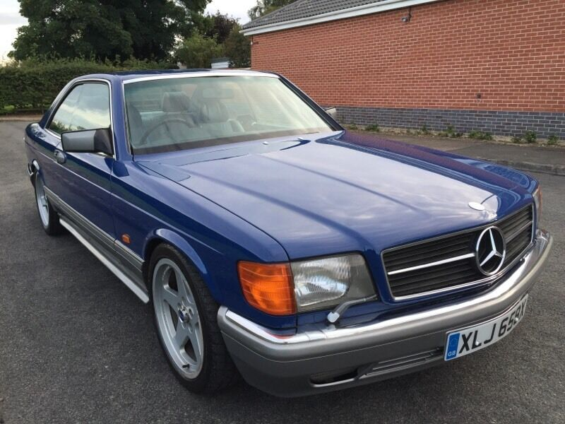 1981 mercedes 500 sec amg w126 in lapis blue on logbook as 380 sec not sl sel hammer e500 c63. Black Bedroom Furniture Sets. Home Design Ideas