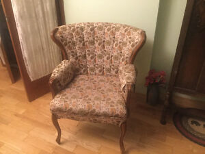 Wingback French Provincial Chair
