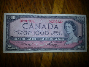 LOOKING FOR OLD PAPER MONEY PRE 1988 WHAT DO YOU HAVE??? London Ontario image 7