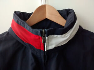Tommy Hilfiger Logo Collar Sailing Jacket - Navy Blue - Large
