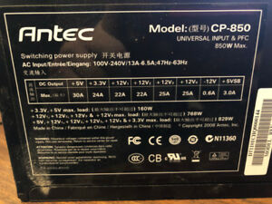 Antec CP-850 850W Continuous Power Supply