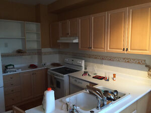 Used Kitchen cabinets, countertops, sink/faucet