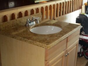 bathroom vanity, sink & faucet