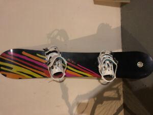Snowboard, bindings, boots like new