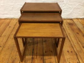 Midcentury nest of tables. Retro Vintage