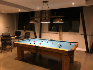 Pool Table - Kitchen Center Island - Bar Station Light
