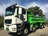 2011 11 MAN TGS 35.400 8x4 hub reduction Thompson steel bodied tipper, sheet
