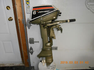 moteur hors bord evinrude 6 hp a pied court