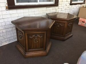 Antique wooden end tables London Ontario image 3