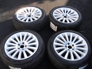 4 pneux et mag  pour BMW (ensemble)