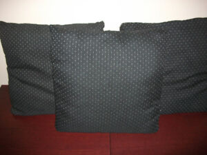 "3 Large Accent Throw Cushion Pillows 20"" x 20"" Affordably Priced"