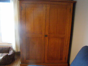 Solid Real Wood Armoire