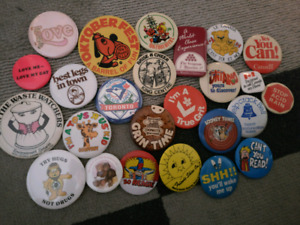 Vintage buttons including ones for Octoberfest
