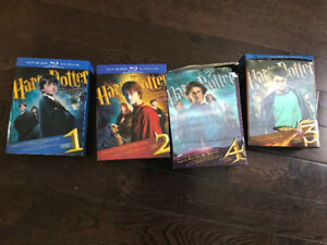 Harry Potter Blue Ray Special Edition movies, Years 1-4