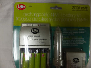NiMH AA Rechargable Batteries and two Chargers. Home and Auto Kitchener / Waterloo Kitchener Area image 2