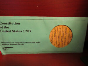 1977 CONSTITUTION OF THE UNITED STATES Reproduction Envelope VF+