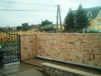 Garden wall and fences covering and refurbishing
