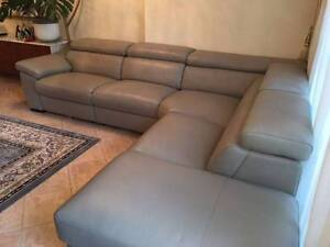 brand new Italian leather designer corner sofa Darling Point Eastern Suburbs Preview