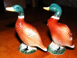 Vintage Porcelain Ducks Salt and Pepper Shackers