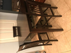 Bar height dining table and chairs