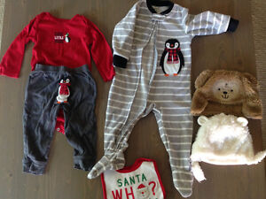 Carters Christmas winter outfit lot Cambridge Kitchener Area image 1
