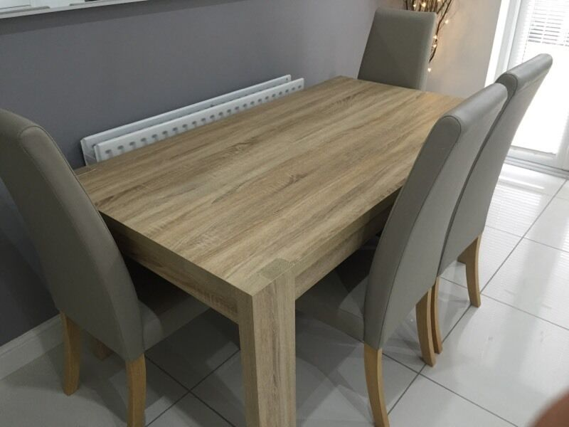 Next Corsica Extendable Dining Table 4 Taupe Chairs RRP 700