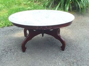 Beautiful Victorian Italian Marble Coffee Table/ Entry Table