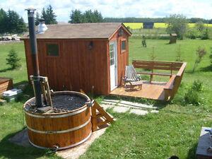 Outdoor Cedar Hot Tub