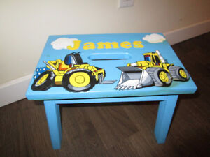 adorable child's wooden stool-name James on it!