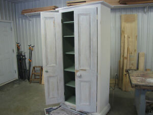 NEW/Custom built vintage style Cupboard/Armoire(white)