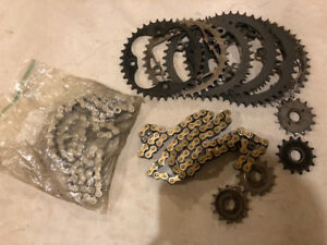 SOLD TRX450R Sprokets and two sets of chains