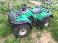 Kawasaki KLF300 4x4 farm quad Atv. 1998. Only 3355 miles. Great condition. Like Honda Trx Trx300