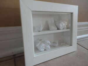 Brand new white wooden decorative bathroom theme shadow box London Ontario image 3