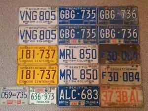 Various 1970s Licence Plate Sets Prince George British Columbia image 4