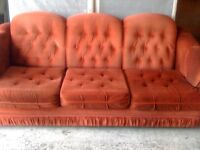 sofa couch - CLEAN & COMFY RED SOFA -   delivery available