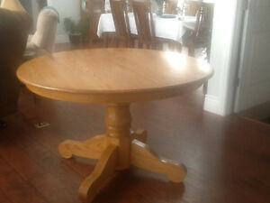 Eight chairs and table w/ 2 leaves. REDUCED