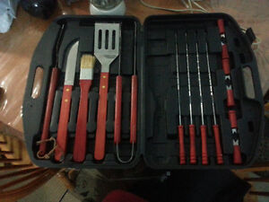 Stainless Steel BBQ Toolset, 15-pc with Case