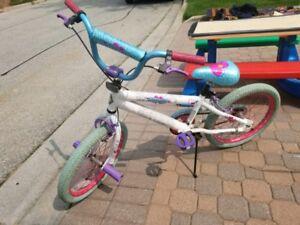 """Used kid girl 18"""" bike"""