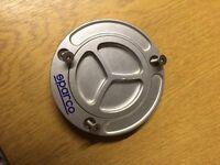 Yamaha R6 R1 fuel petrol tank filler cap Sparco spin locking