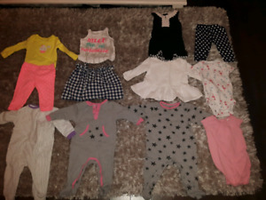 Lot vêtements bébé fille 6-9-12 M