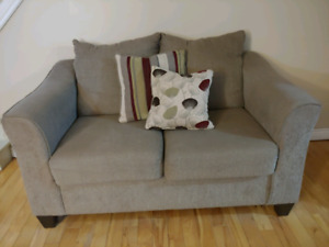Accent chair, loveseat,and 2 pillows