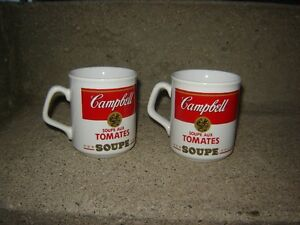 ANTIQUE CAMPBELL'S SOUP METAL TRAY, MUGS,THERMOS& METAL PICTURE London Ontario image 3