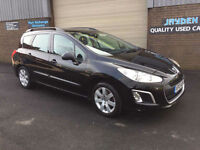 2013 PEUGEOT 308 SW 1.6 HDi SR ESTATE,ONLY 40000 MILES WITH FULL SERVICE