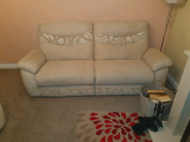 Professionally cleaned 4 + 2 seater sofa and storage foot stool