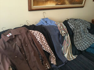 Men's casual shirts,suit , leatherjacket and shoes sz 7